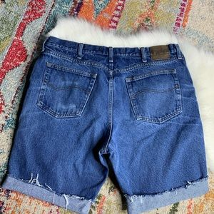 Lee Distressed Worn Cutoffs Jean Denim Shorts